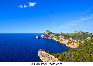 formentor, zee, diep, spanje, majorca, schiereiland, eiland, kaap, blauwe