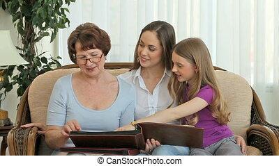 foto, boekjes , gezin