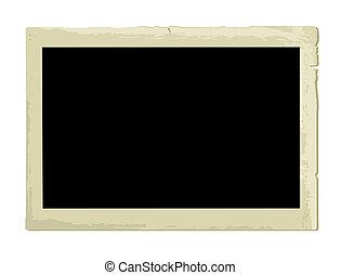 fotokader, oud, (illustration)