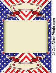 frame, achtergrond, amerikaanse vlag
