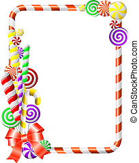 frame, candies., kleurrijke