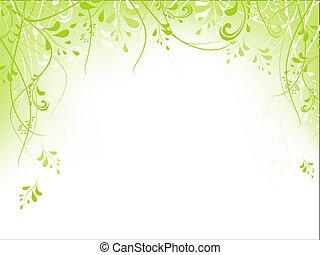 frame, gebladerte, groene