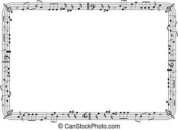 frame, grafisch, muzikalisch