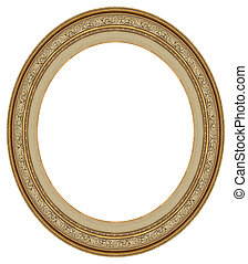 frame, ovaal, goud, afbeelding