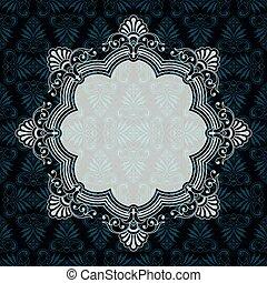 frame, sierlijk, vector, achtergrond, textured, grens