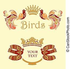 frame, vogels