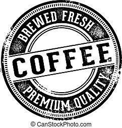 fris, koffie, ouderwetse , meldingsbord