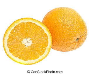fris, witte achtergrond, vrijstaand, sinaasappel