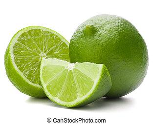 fruit, cutout, achtergrond, vrijstaand, citrus, kalk, witte