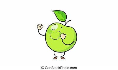 fruit, dancing, apple., rijp, heerlijk, zoet