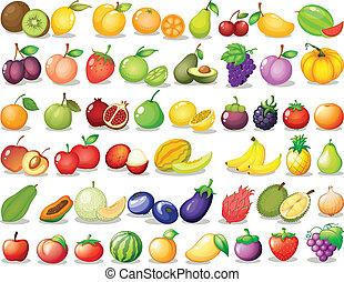 fruit, set