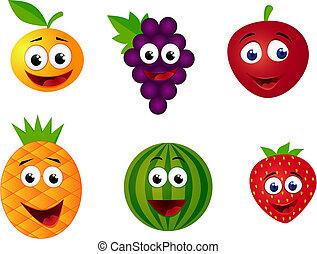 fruit, spotprent