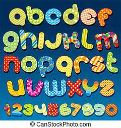 funky, lettertype