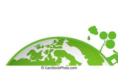 gaan, aarde, groene
