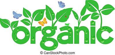 gaan, organisch, -, groene