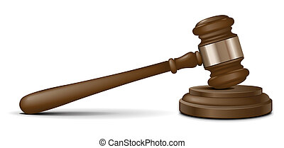 gavel, rechter, vector