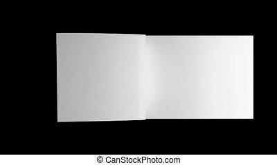 geanimeerd, alfa, draaien, pagina's