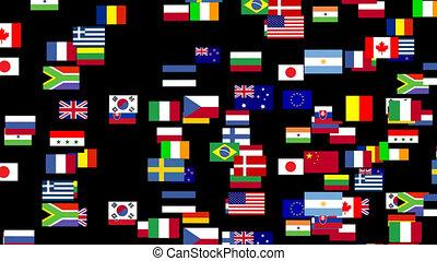 geanimeerd, wereldvlaggen, 2