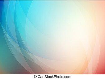 gebogen, achtergrond, abstract, kleuren