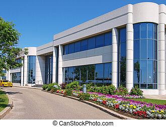 gebouw, entranceway, industrieel park