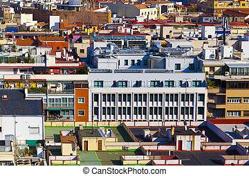 gebouw, facades, achtergrond