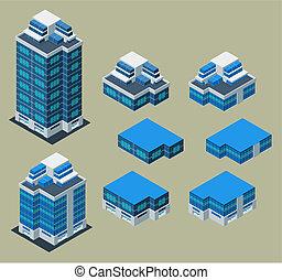 gebouw, isometric