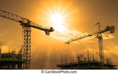 gebouw kraan, bouwsector