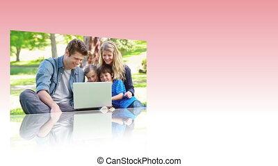 gebruik, video's, intern, families