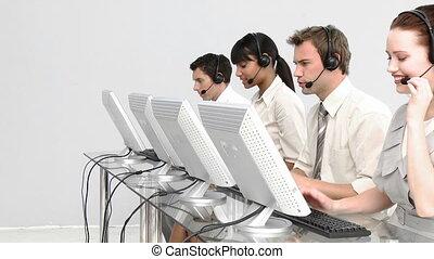 geconcentreerd, mensen, werkende