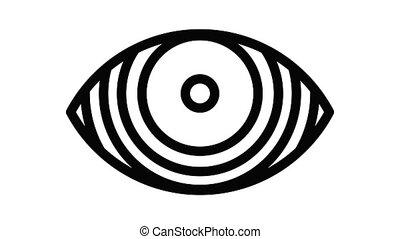 geconcentreerd, pictogram, animatie, oog