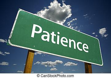 geduld, wegaanduiding