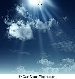 geestelijk, heaven., abstract, achtergronden, ontwerp, weg, jouw