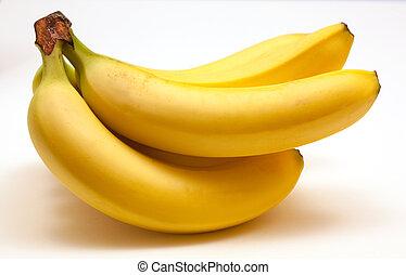geheel, bananen, rijp, bos