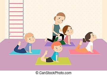 geitjes, instructor., yoga