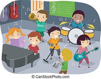 geitjes, muziek kamer