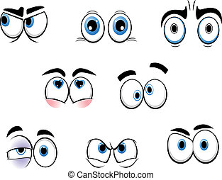 gekke , eyes, spotprent