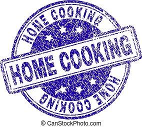 gekraste, postzegel, het koken, textured, thuis, zeehondje