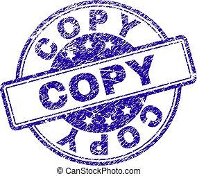 gekraste, postzegel, kopie, textured, zeehondje