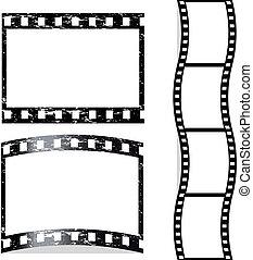 gekraste, vector, film