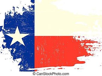 gekraste, vlag, texas