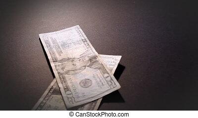 geld, amerikaan, het vallen