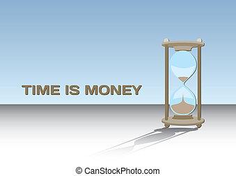 geld, concept, -, tijd