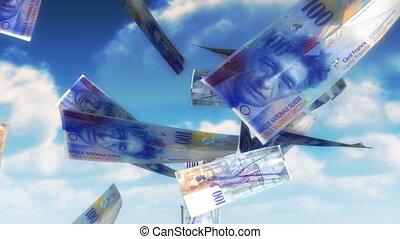 geld, hemel, -, chf, (loop)