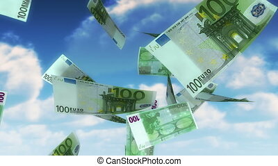 geld, hemel, -, eur, (loop)