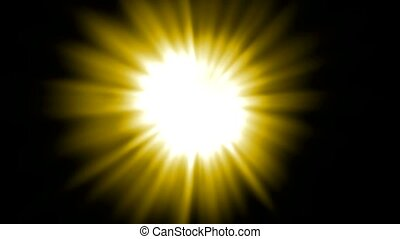 gele, straal, licht, zonlicht