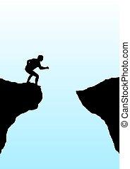 geloof, sprong