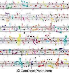 geluid, hart, liefde, textuur, aantekening, muziek