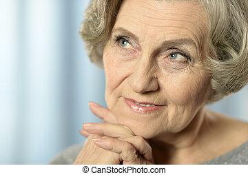 gelukkige vrouw, ouder