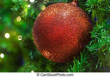 gelul, boompje, kerstmis, kleurrijke