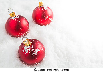 gelul, kerstmis, rood, sneeuw